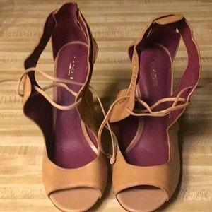 Coach Shoes - Coach Tan Leather Heels